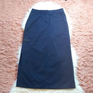 Retro Y2K Northern Reflections Cargo Maxi Skirt